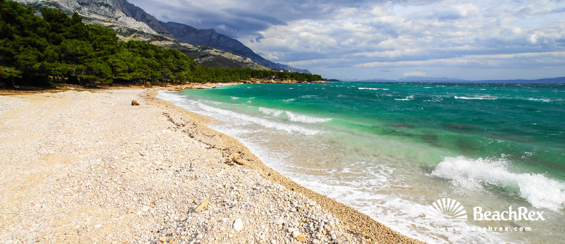 Croatia - Dalmatia  Split -  Baška Voda - Beach Baško Polje