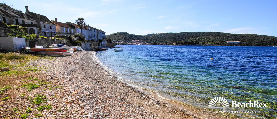 Croatia - Dalmatia  Split - Island Vis -  Vis - Beach Vagan