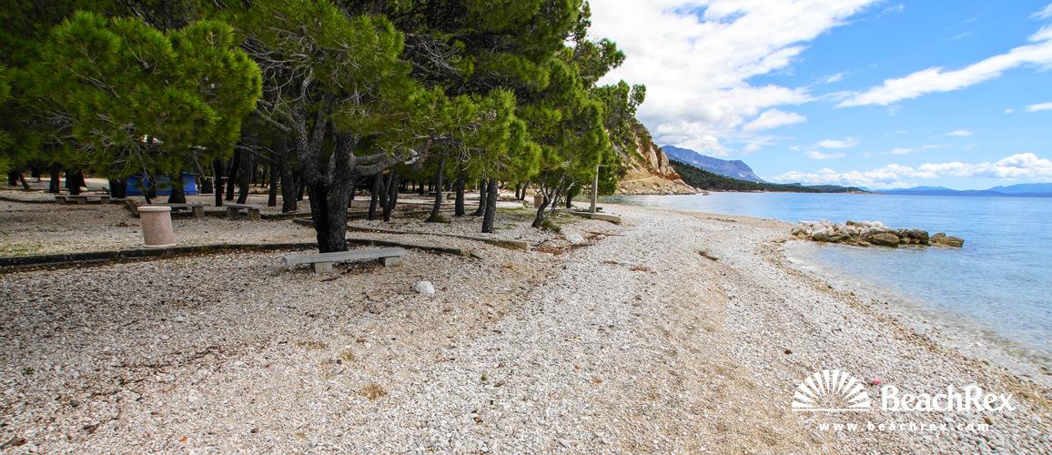 Croatia - Dalmatia  Split -  Krvavica - Beach Krvavica