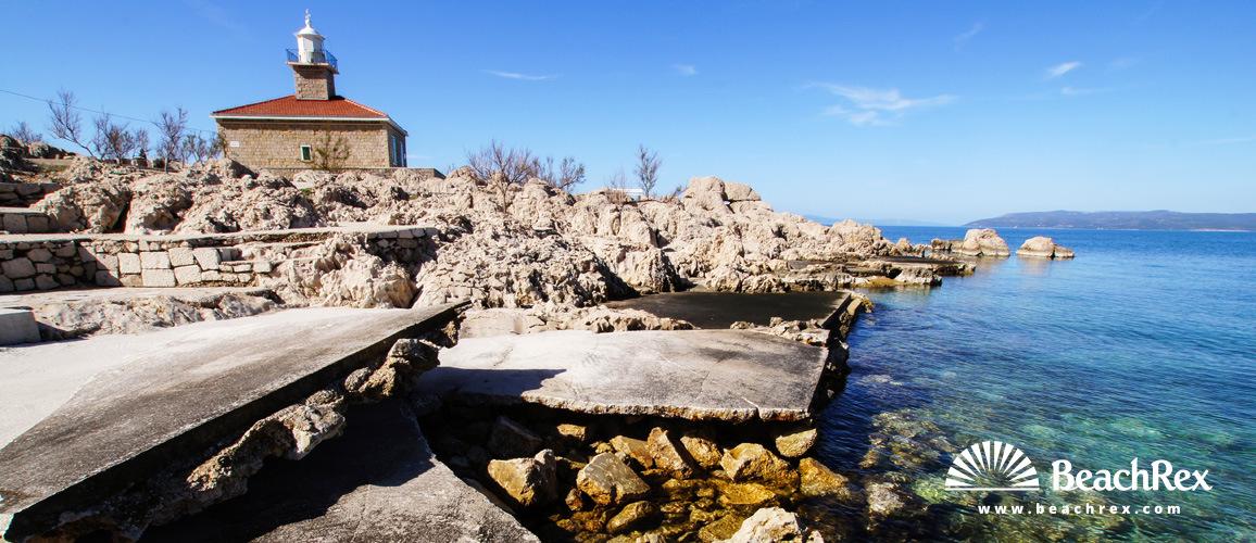 Croatia - Dalmatia  Split -  Makarska - Beach Sveti Petar