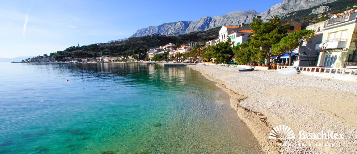Hrvatska - Dalmacija  Split -  Podgora - Plaža Podgora