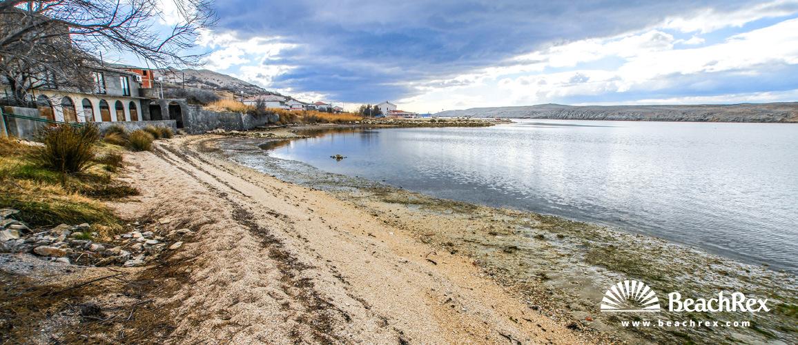 Hrvatska - Dalmacija  Zadar - Otok Pag -  Dinjiška - Plaža Pagar