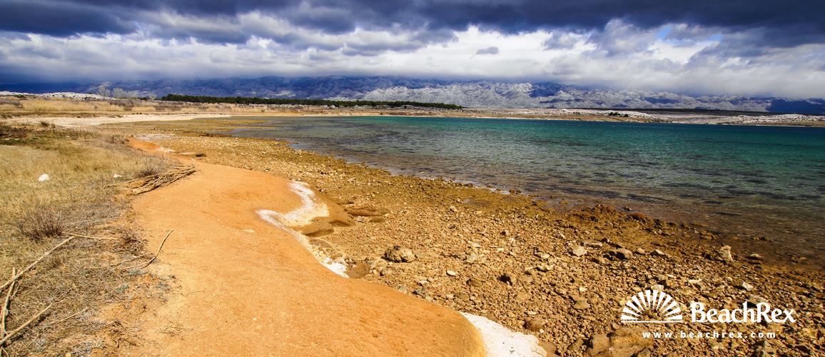 Croatia - Dalmatia  Zadar - Island Pag -  Povljana - Beach Stara Povljana