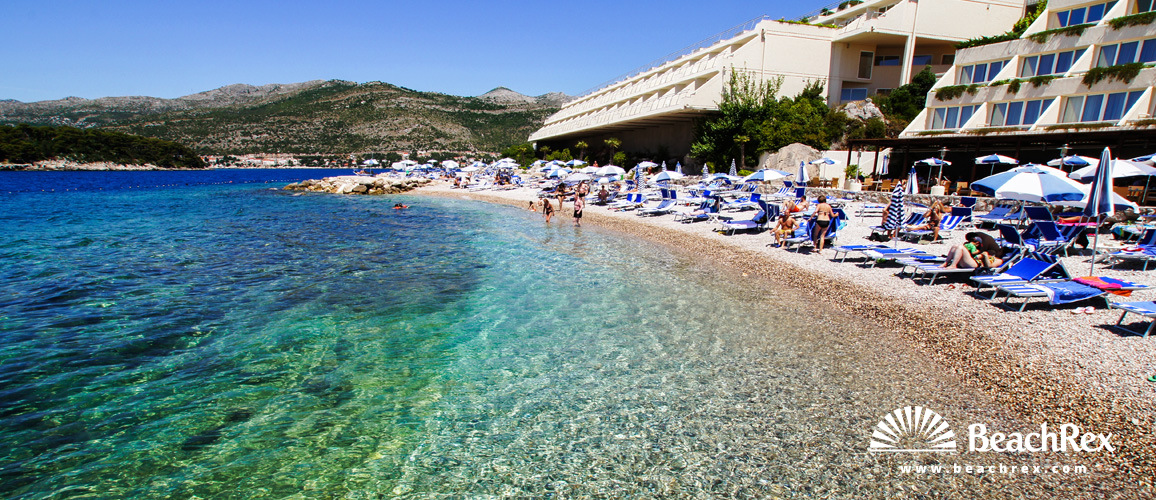 Beach President Dubrovnik Dalmatia Croatia