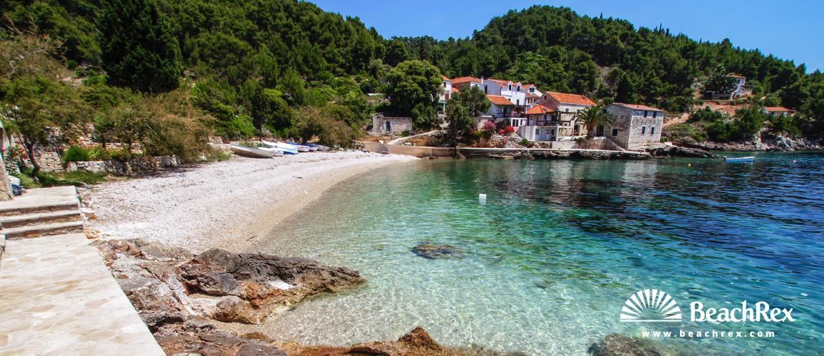 Croatia - Dalmatia  Split - Island Hvar -  Tvrdni Dolac - Beach tvrdni dolac
