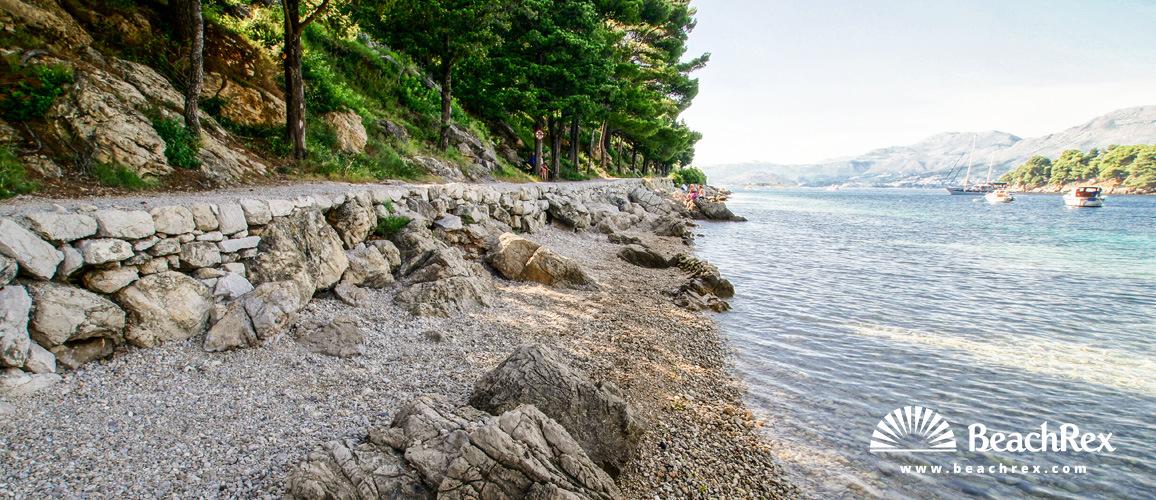 Croatia - Dalmatia  Dubrovnik -  Cavtat - Beach Sustjepan
