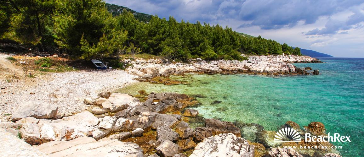 Croatia - Dalmatia  Split - Island Hvar -  Humac - Beach Valva