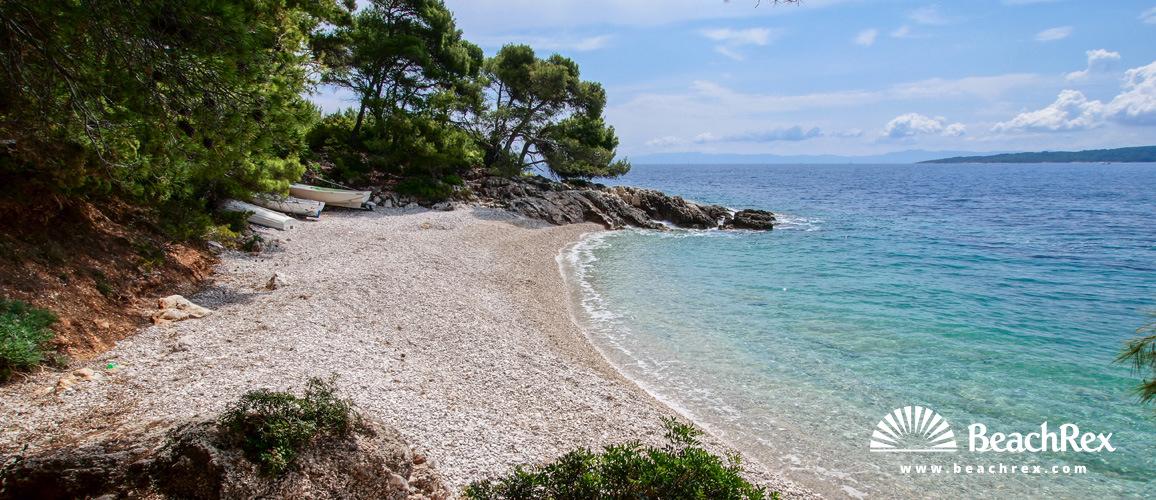 Croatia - Dalmatia  Split - Island Hvar -  Zavala - Beach Žutica