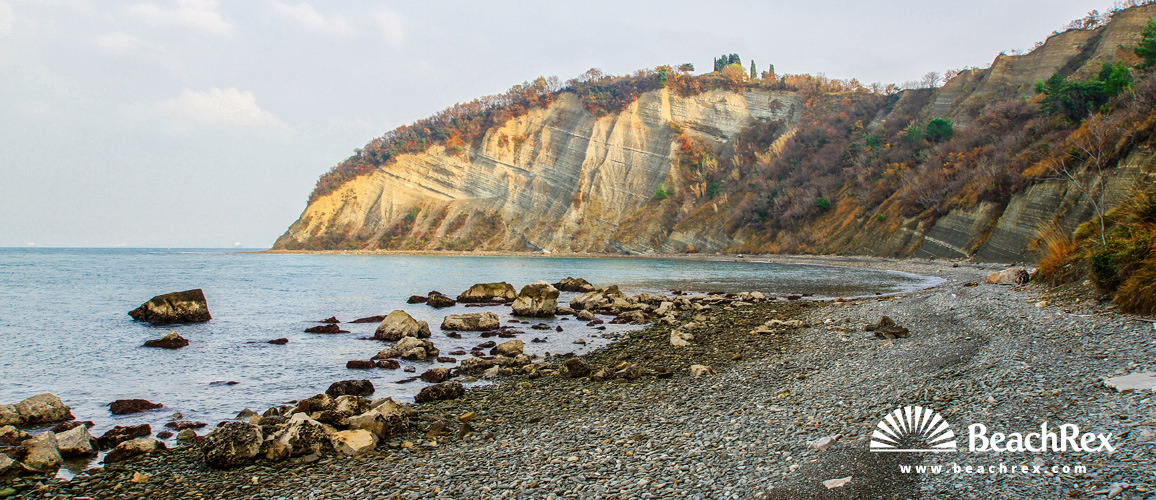 Slovenia - Obalno kraška -  Strunjan - Beach Mesečev zaliv