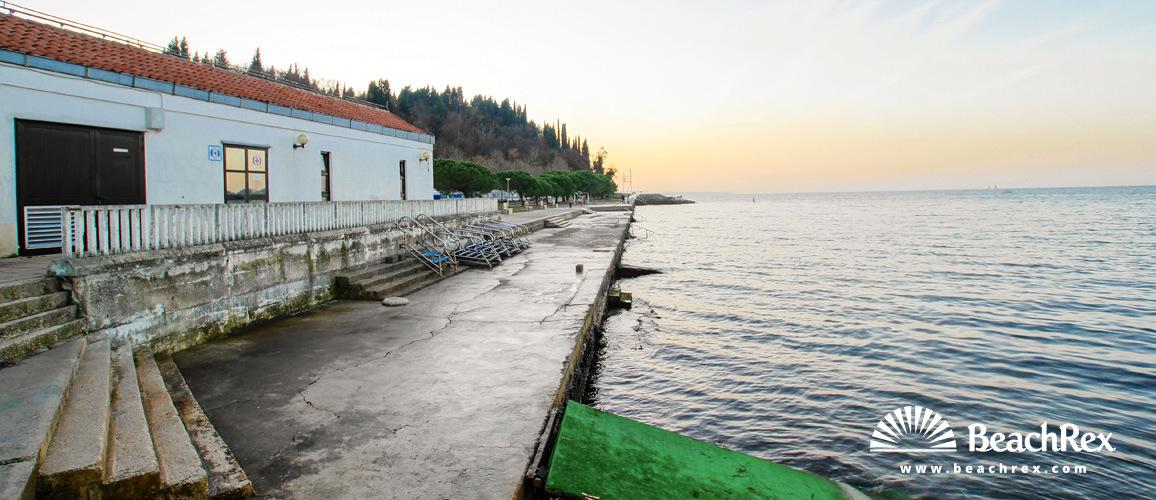 Slovenia - Obalno kraška -  Lucija - Beach Lucija