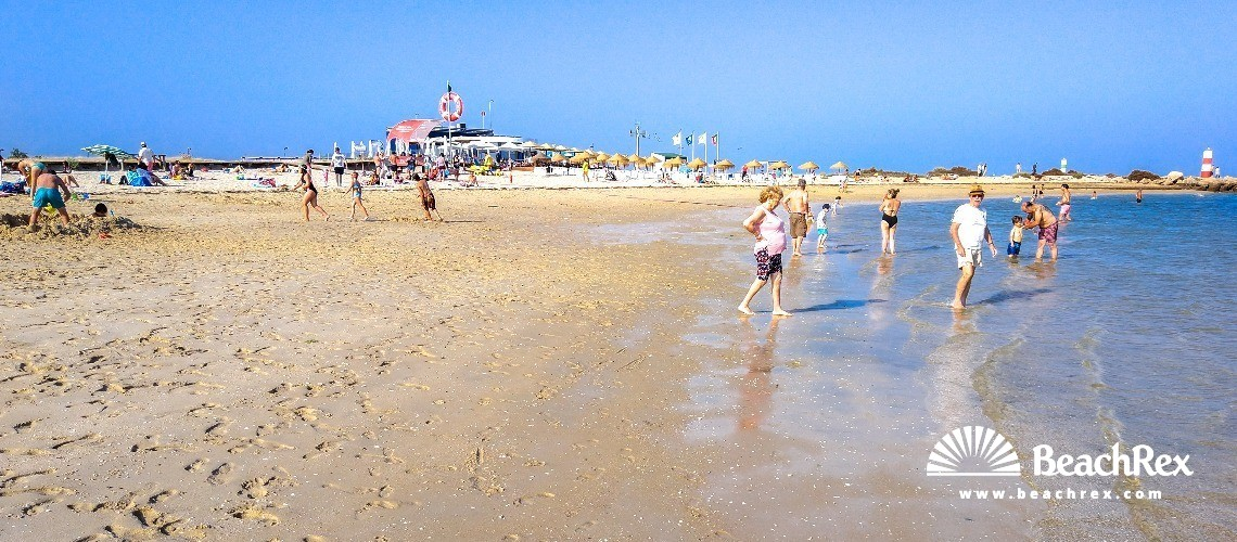 Portugal - Algarve -  Fuseta - Praia da Fuseta-Ria