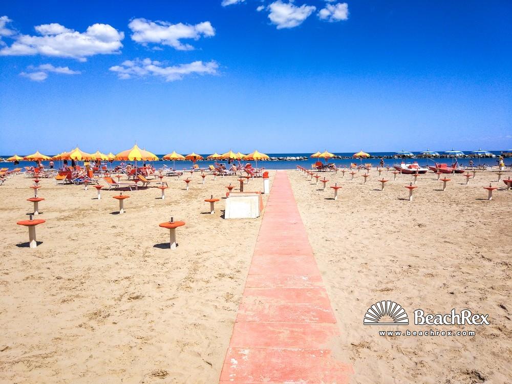 Italy - EmiliaRomagna -  Bellaria - Beach Bellaria