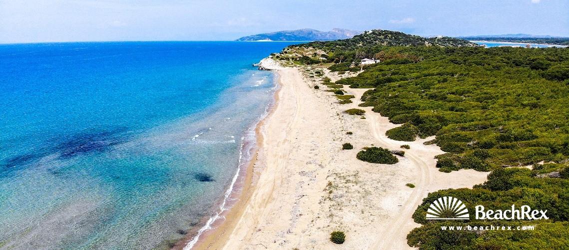 Greece - Dytiki Ellada -  Loutra imenis - Paralia Kounoupelaki